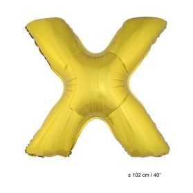 Ballon en forme de Grande Lettre X Dorée