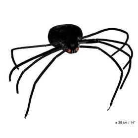 Araignée velue avec yeux lumineux rouges