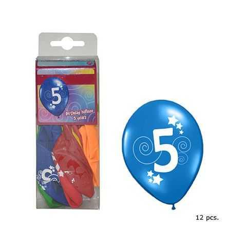 Ballons anniversaire 5 ANS