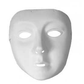 Masque blanc à peindre Enfant