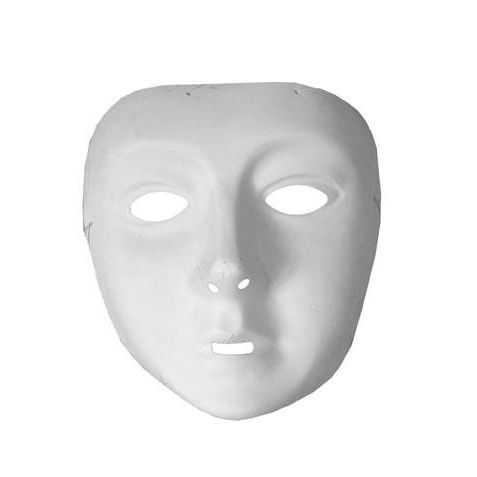promotion Masque blanc à peindre Enfant