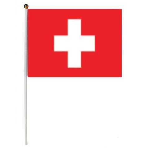 drapeaux suisse à agiter