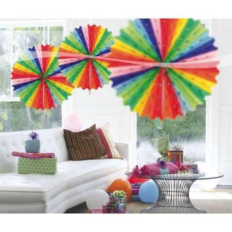 Rosace en papier multicolore