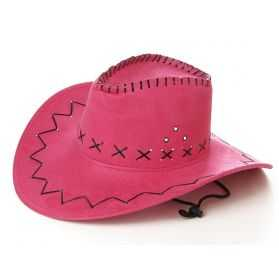 Chapeau cow boy rose