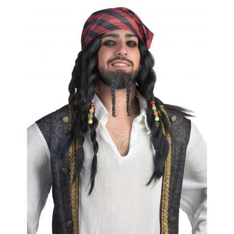 Perruque déguisement Pirate HOMME