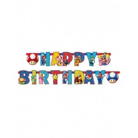 Guirlande anniversaire Super Mario