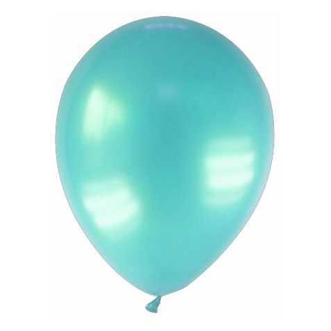 12 ballons de baudruche aspect métallisé