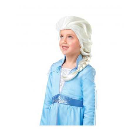 Perruque blonde Reine des Neiges pour Enfant