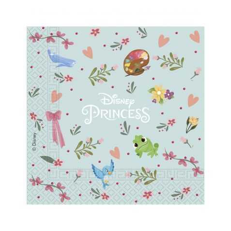 20 Serviettes pour gouter d'anniversaire Disney Princesses