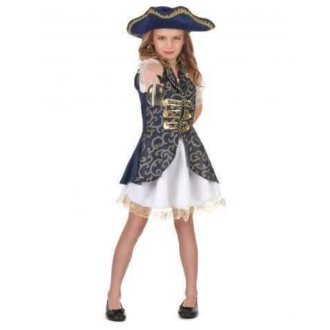 Déguisement fille Capitaine bateau pirates