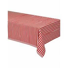 Nappe à rayures rouges et blanches