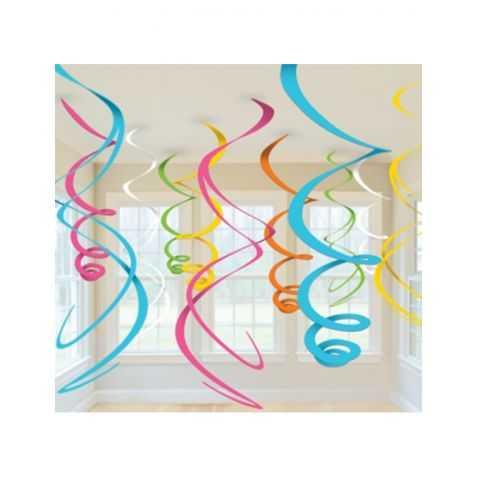 Suspensions Spirales multicolores