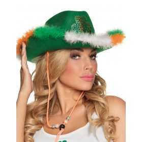 Chapeau cowboy Saint-Patrick