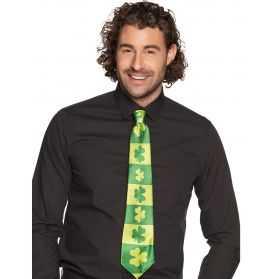 Cravate motif trèfles