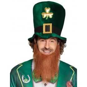 Haut de forme Saint-Patrick avec barbe