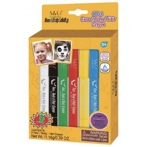 Blister 6 crayons de maquillage à l'eau