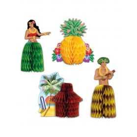 Décorations de table thème Hawaï
