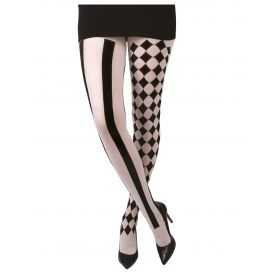 Collants motif Arlequin