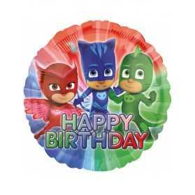 Ballon anniversaire Pyjasmasques
