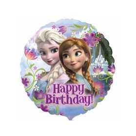 Ballon Joyeux anniversaire Reine des Neiges