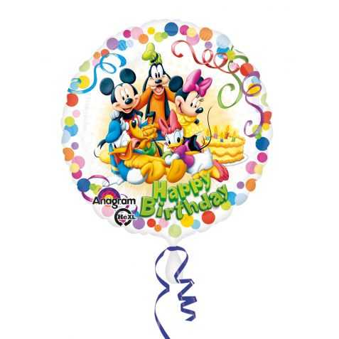 Ballon Joyeux anniversaire Mickey