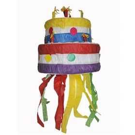 Pinata en forme de gâteau d'anniversaire