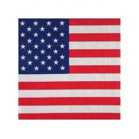 Serviettes en papier drapeau Etats Unis