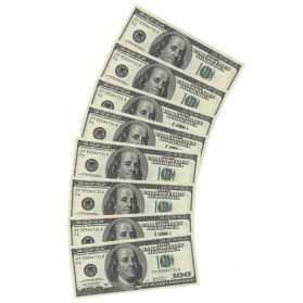 Serviettes en papier en forme de billet Dollar