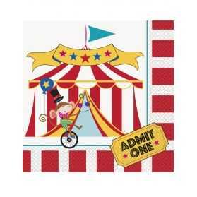 Serviettes en papier thème Cirque