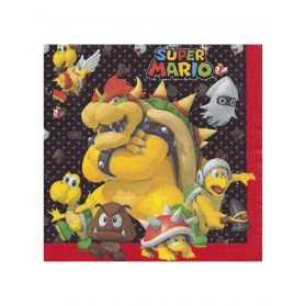 Serviettes en papier Super Mario