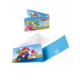 Cartes invitations anniversaire Super Mario