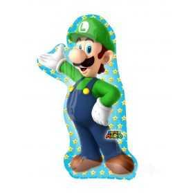 Ballon Mario Bros en forme de Luigi