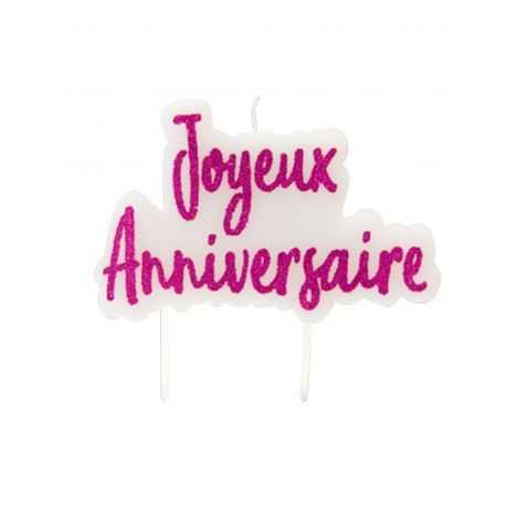 """Bougie """"Joyeux Anniversaire"""""""