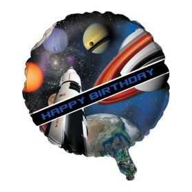 Ballon Joyeux Anniversaire thème l'Espace