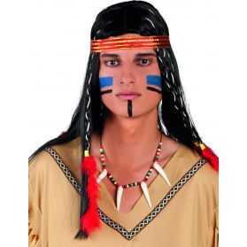 Collier Indien avec dents et Perles assorties