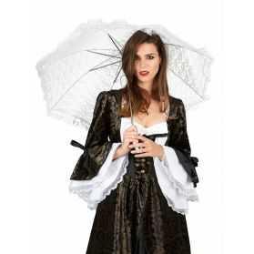 Ombrelle Blanche en Détail Chic pour soirée blanche