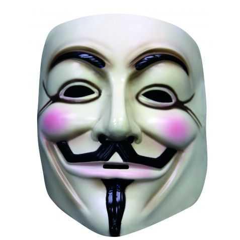Masque anonymous blanc