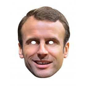 Masque Emmanuel Macron en carton