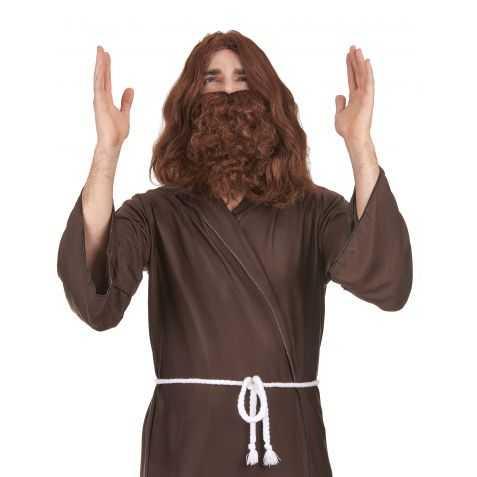 Perruque et barbe de Prophète brunes
