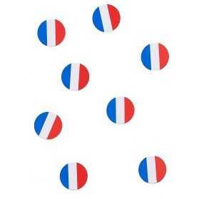 Confettis de table drapeau français