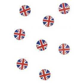 Confettis de table aux couleurs du Royaume Uni