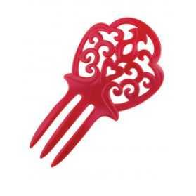 Peigne rouge Andalou de danseuse de Flamenco