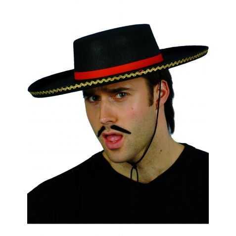 Chapeau Espagnol Noir galonné