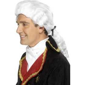Perruque typique de Comte avec cheveux blancs