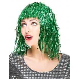 Perruque cheveux métallisés soirée disco