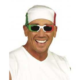 Bandana avec motif du drapeau Italien