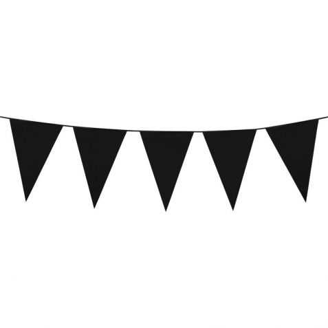 Guirlande à fanions noirs