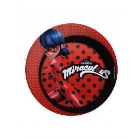 Assiettes compostables Ladybug