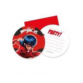 Cartes invitations anniversaire Ladybug