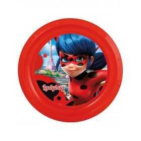 Assiette en plastique Ladybug